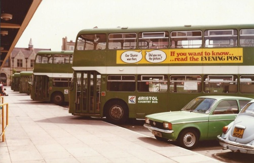 Bath, 1984. Bristol Country Bus would shortly become Badgerline and form the foundations of First Group.