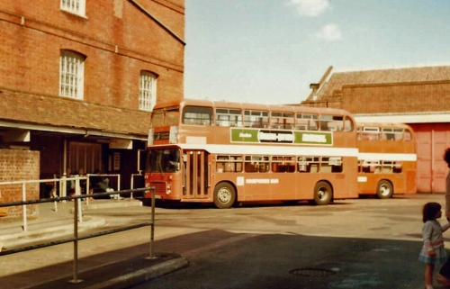 Hampshire Bus Bristol VRs  at Winchester, 1983