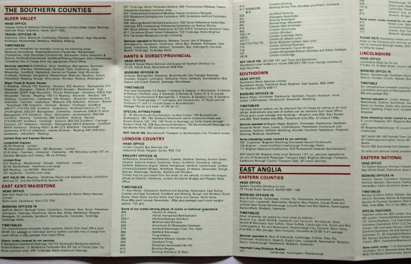 The individual NBC subsidiarys list their availability in the 'Wanderbus Ticket' leaflet.