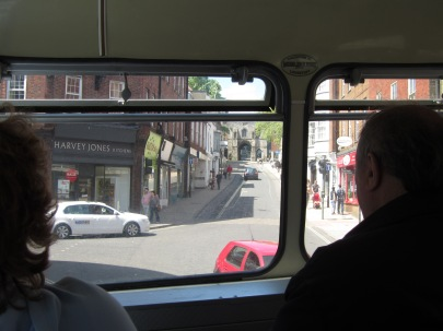 The view from within a Western National Bristol VR, the staple double decker on a 'Wanderbus' day out.