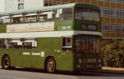 A London Country 'AN' Leyland Atlantean, one of Crawley's allocation decorated for the town's 'C Line' network of local services.